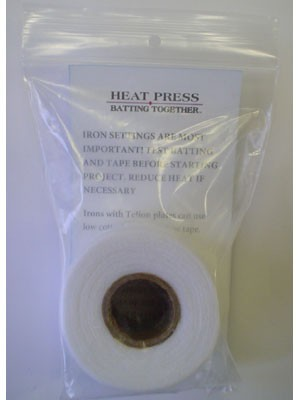 HEAT Press Batting Together: 3/4x 10 Yards (White) Cloth Tape