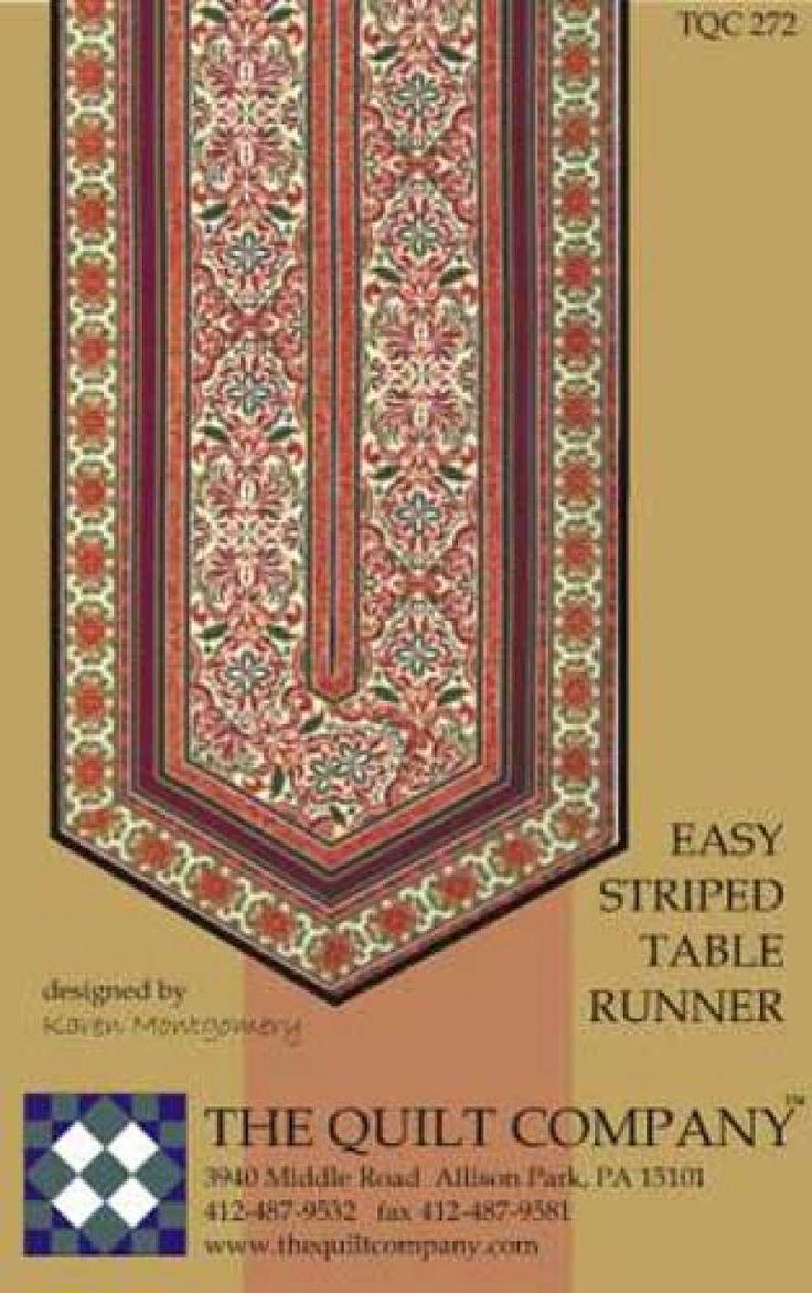 Easy Stripe Tablerunner Pattern