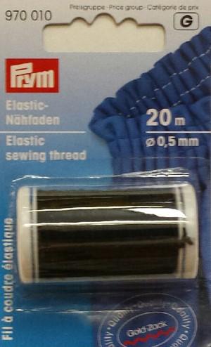 Elastic Thread - Black - 20M x .5mm