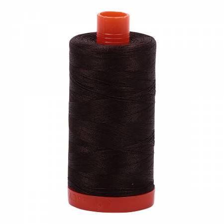 Mako Cotton Thread Solid 50wt 1422yds Very Dark Bark