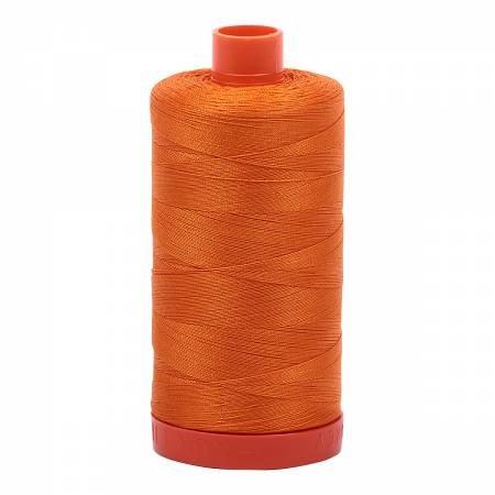 Mako Cotton Thread Solid 50wt 1422yds Bright Orange