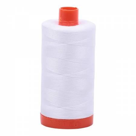 Cotton Mako Thread 50wt 1300m White