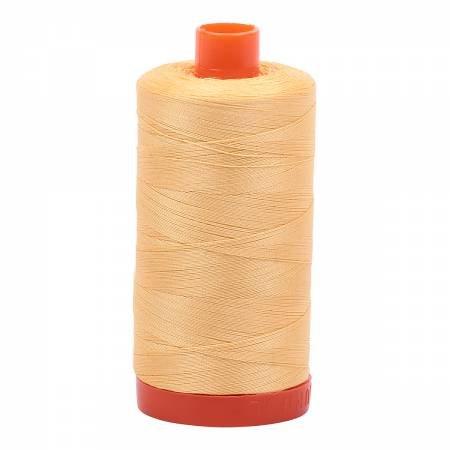 Mako Cotton Thread Solid 50wt 1300m Medium Butter