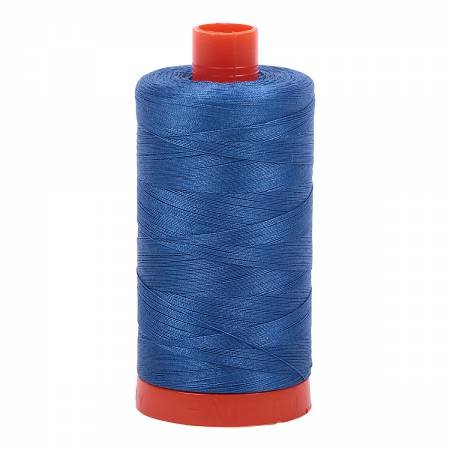 Mako Cotton Thread Solid 50wt 1422yds Delft Blue