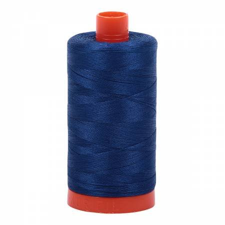Mako Cotton Thread Solid 50wt 1422yds Dark Delft Blue