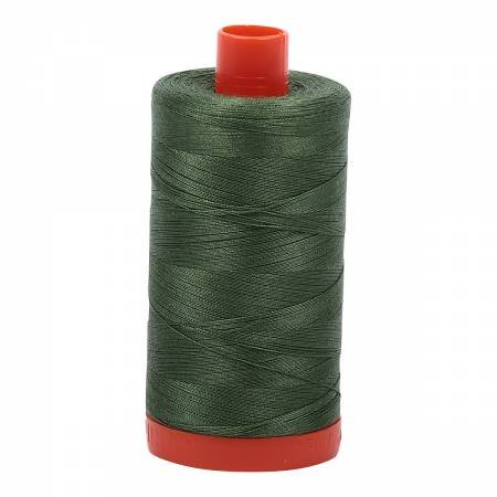 Mako Cotton Thread Solid 50wt 1422yds Very Dark Grass Green