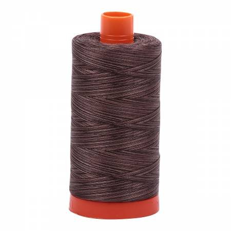 Mako Cotton Embroidery Thread Variegated 50wt 1422yds Grey Verigated