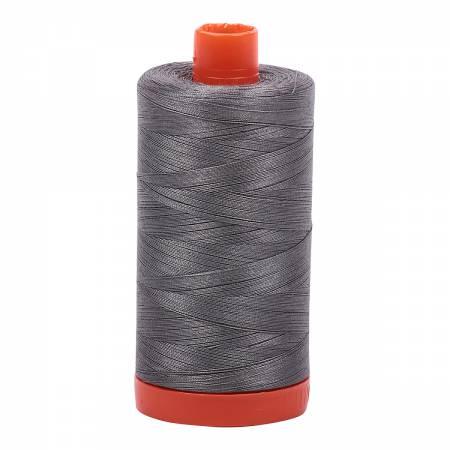 Mako Cotton Thread Solid 50wt 1422yds Grey Smoke