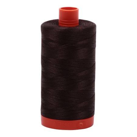 Mako Cotton Embroidery Thread 50wt 1422yds Brown