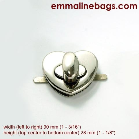 Emmaline Heart Twist Lock