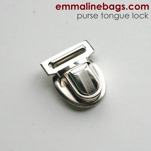 Emmaline Tongue Lock - In Nickel Finish