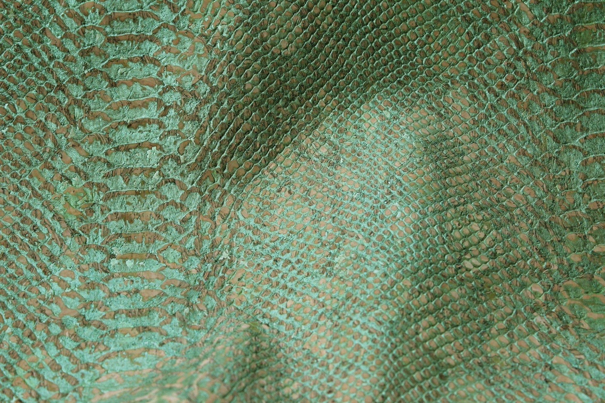 Alligator Green Cork Fabric (36x36)