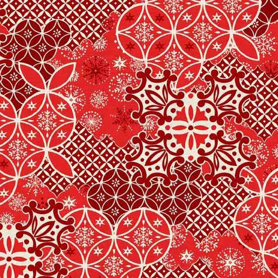 Andover Fabrics Scandi 4 Red Montage
