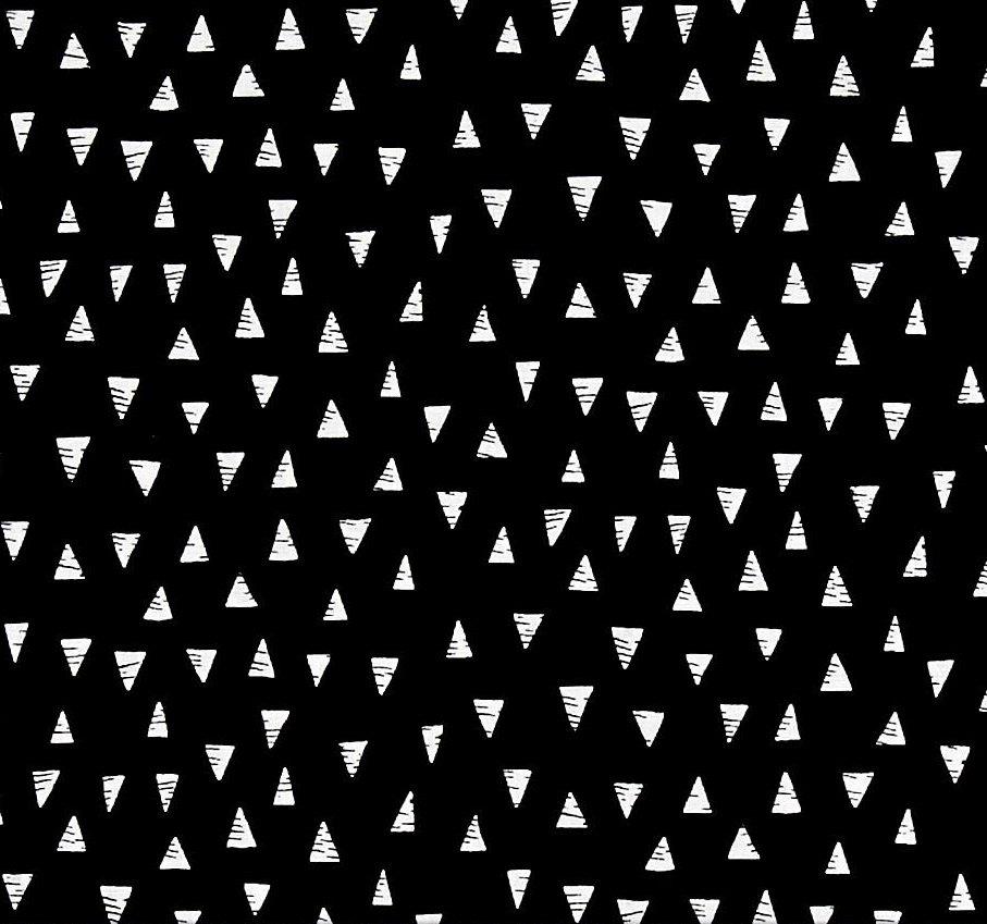 Monochrome by Henley Studio Triangles Black