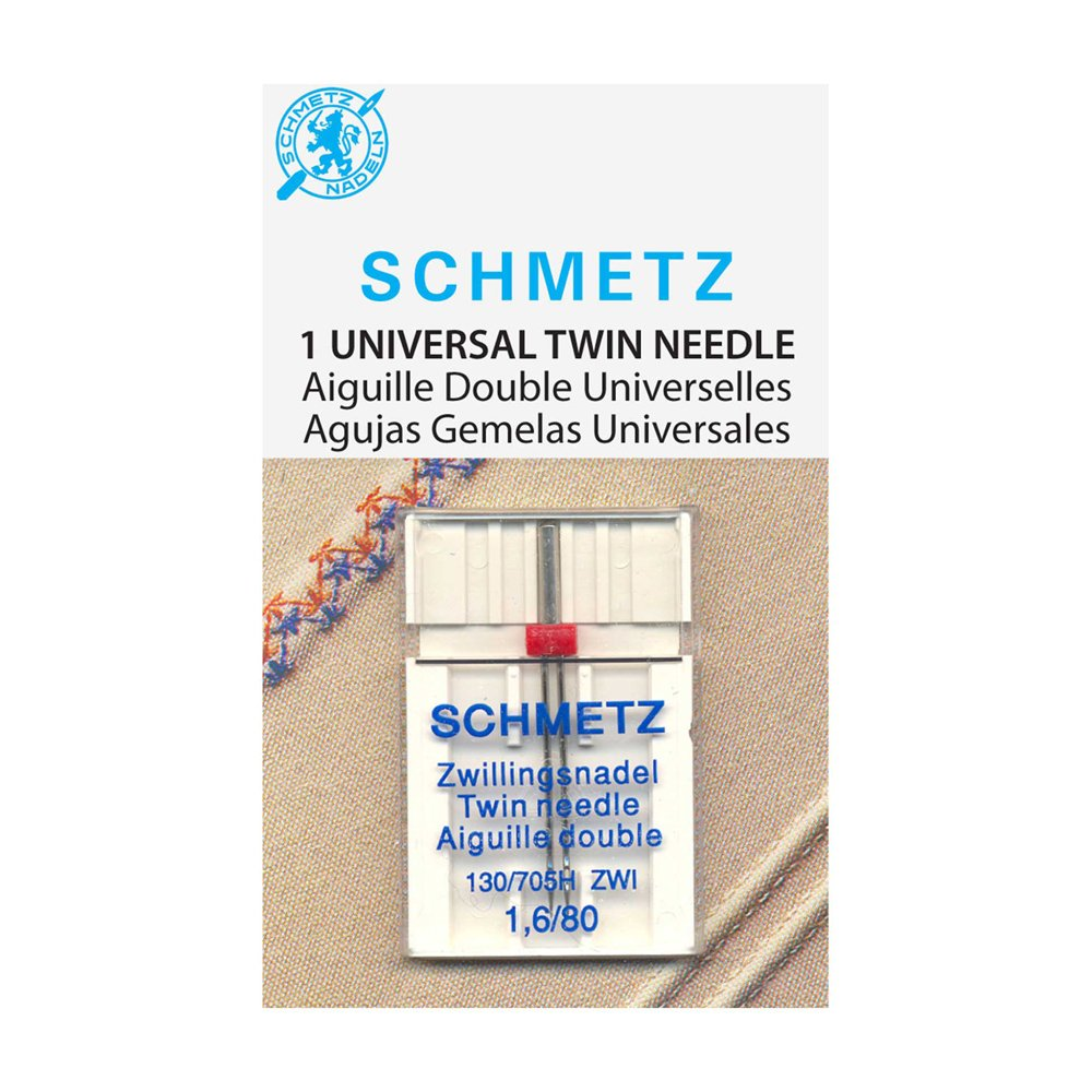 SCHMETZ #1777 Twin Needle Carded - 80/12 - 1.6mm - 1 count