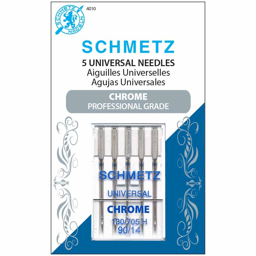 SCHMETZ #4010 Chrome Universal - 90/14 - 5 count