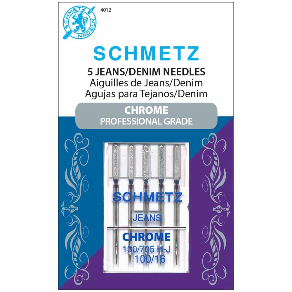 SCHMETZ #4012 Chrome Denim - 100/16 - 5 count