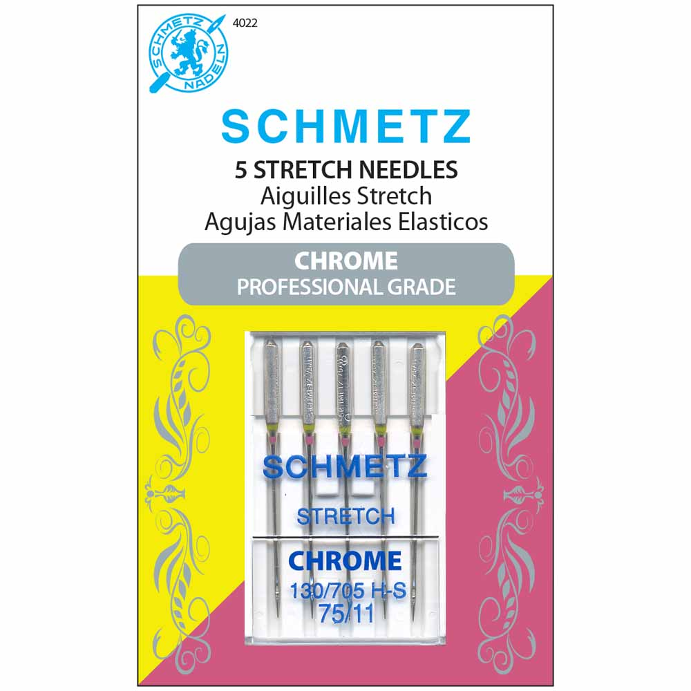SCHMETZ #4022 Chrome Stretch - 75/11 - 5 count