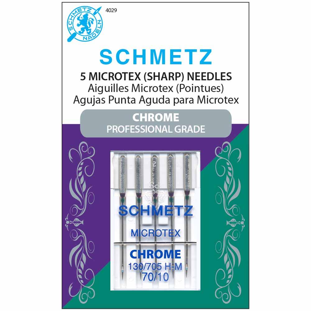 SCHMETZ #4029 Chrome Microtex - 70/10 - 5 count