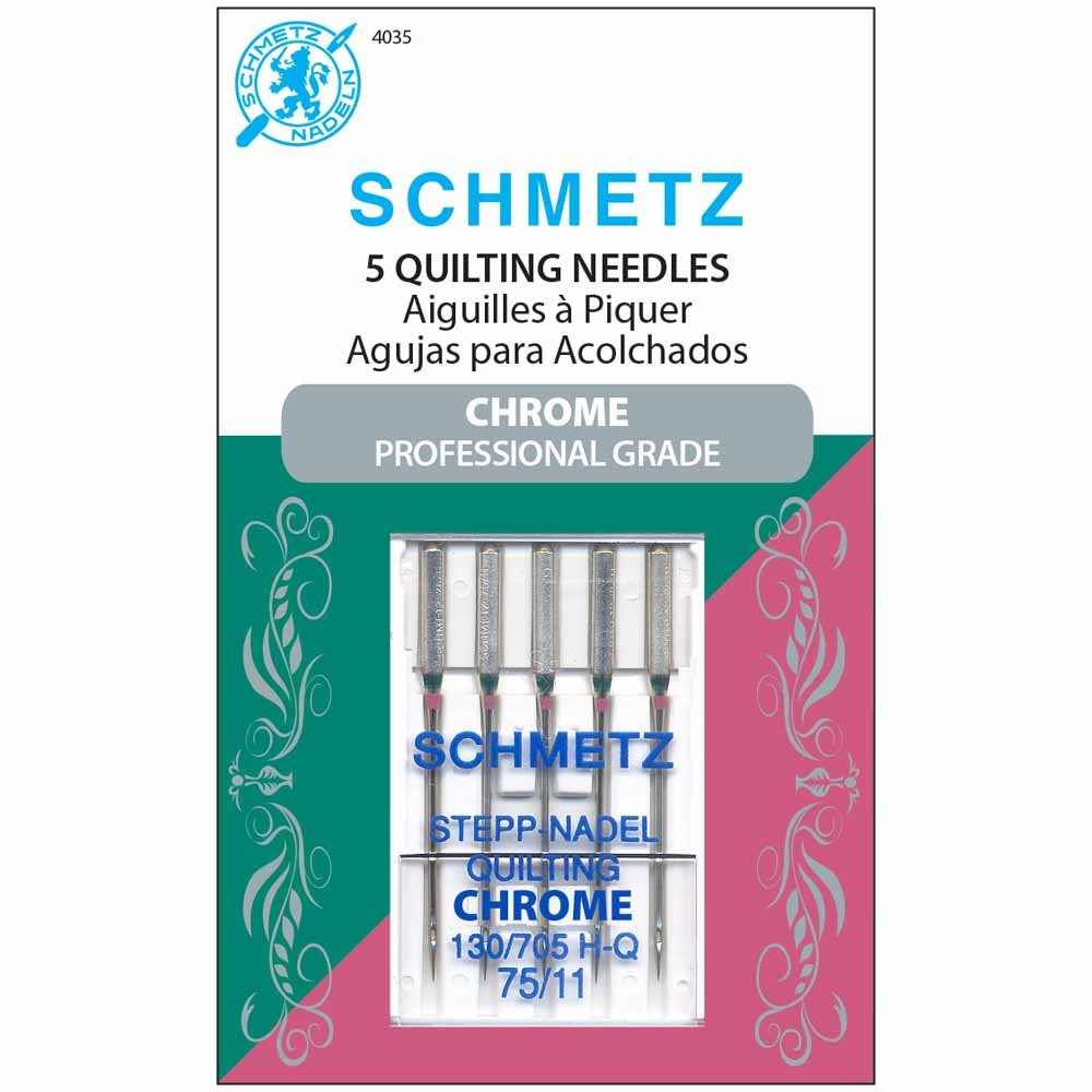 SCHMETZ #4035 Chrome Quilting - 75/11 - 5 count
