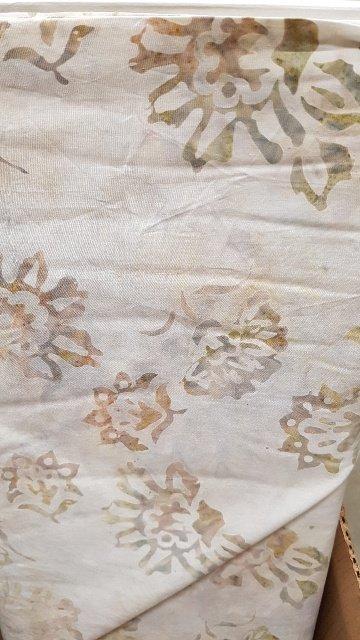Boreal Batiks Cream Flower