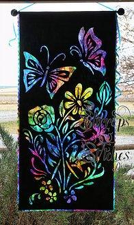 Butterflies & Blossoms Silhouette Laser Cut