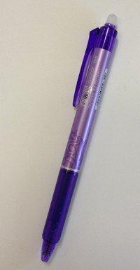 Violet Frixion Pen
