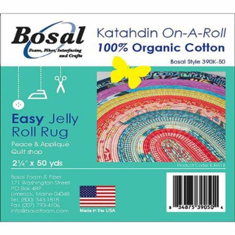Bosal Katahdin-On-A-Roll 100% Cotton Blend Batting, 2 1/2 x 50yds (6.35cm x 45.72M), White