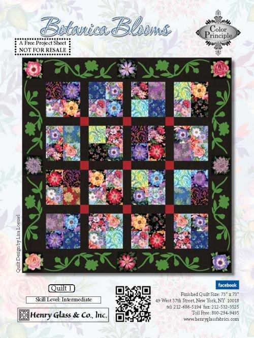 Henry Glass Botanica Blooms Pattern 1