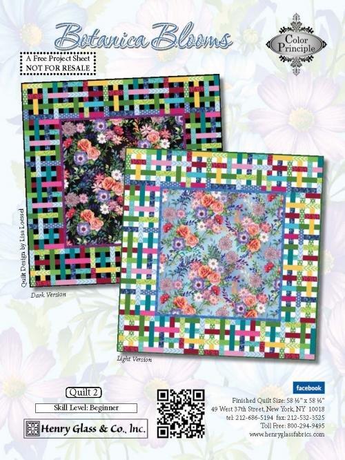 Henry Glass Botanica Blooms Pattern 2