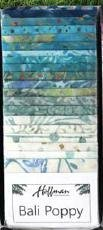 Bali Poppy Beach Glass (20 x 2.5 strips)