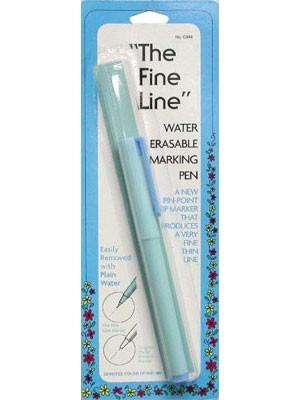 Fine Line Water Erasable Marking Pen - Blue