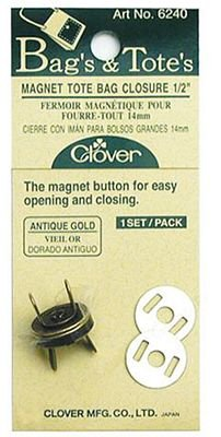 1/2 Antique Gold Magnet Closure