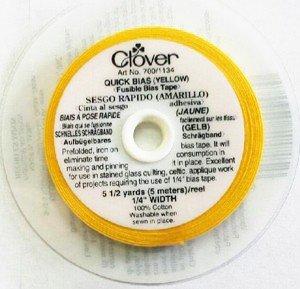 Clover Yellow Bias Tape 1/4