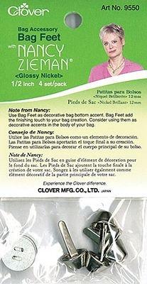 Bag Feet 1/2 Glossy Nickle