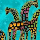 MYTHICAL JUNGLE BY LAUREL BURCH AQUA GIRAFFE