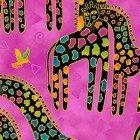 MYTHICAL JUNGLE BY LAUREL BURCH PINK GIRAFFE