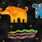 MYTHICAL JUNGLE BY LAUREL BURCH BLACK ANIMALS