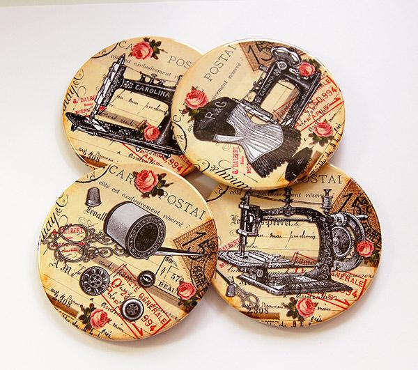 Coasters -  Vintage (4 pack)