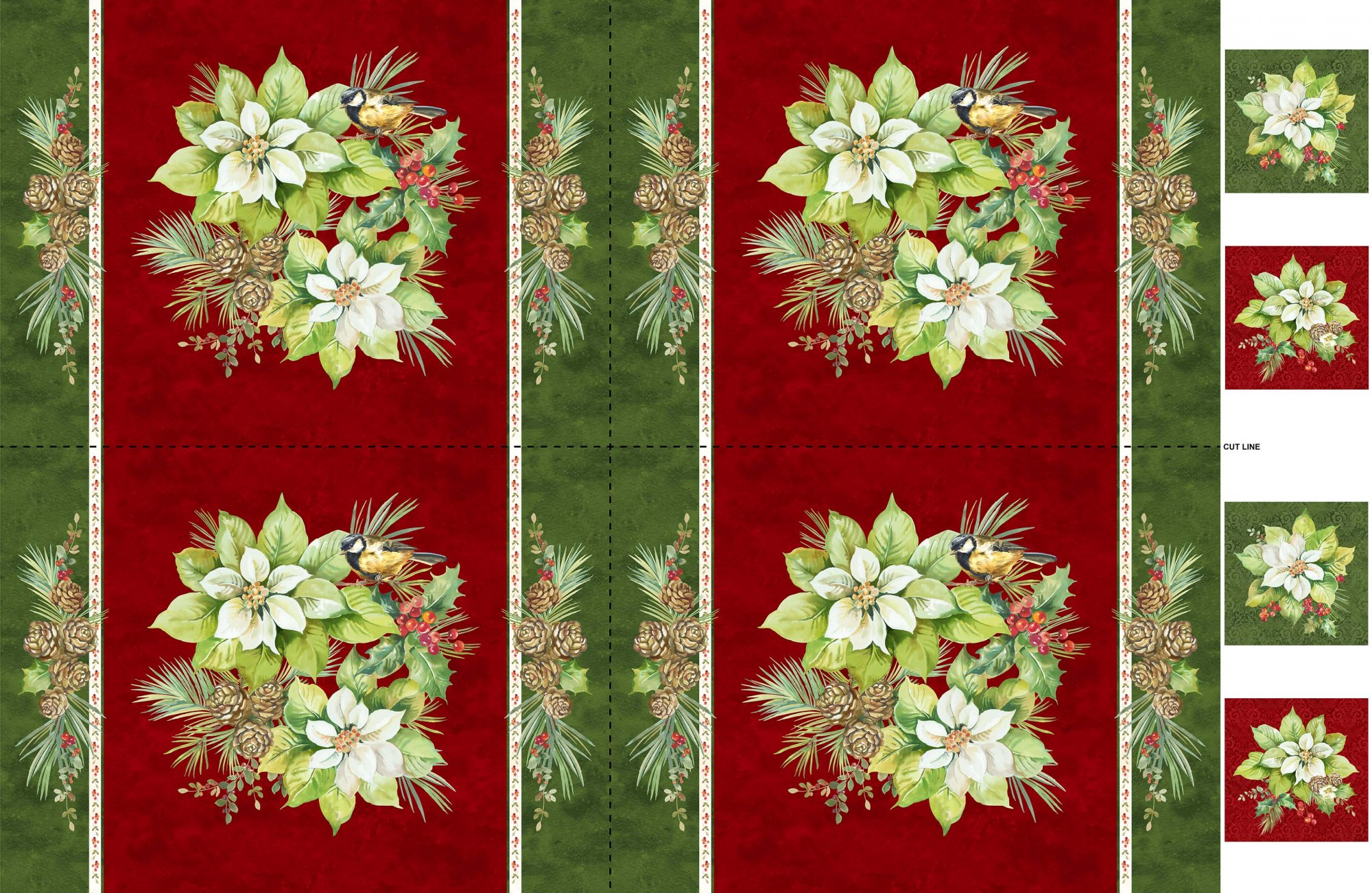 Deborah Edwards Deck the Halls Placemat Panel