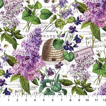 Michel Design Works - Chelsea - White Botanical Digital Print DP23057-10