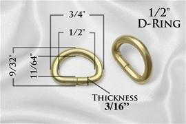 1/2 D-rings Gold