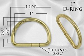 1 Gold D-Ring