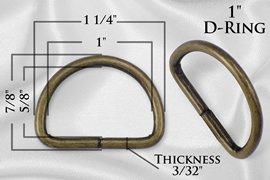 1 Brass D-Ring