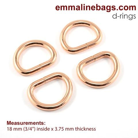 D-Rings 3/4 Gold Finish (4 pack)