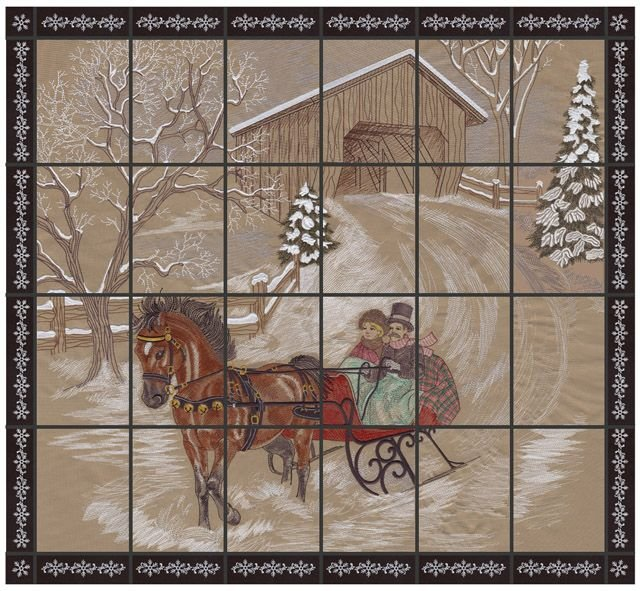 Dashing Through the Snow Embroidery