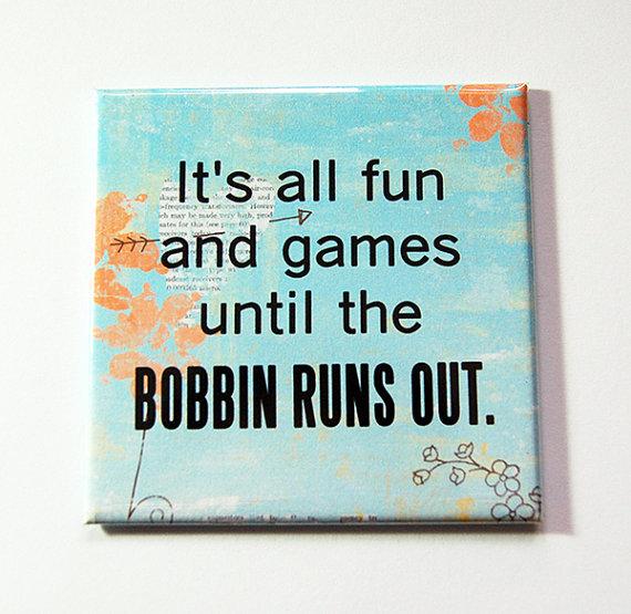 Magnet Fun till the Bobbin Runs Out