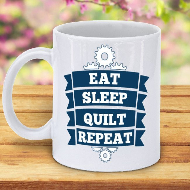 Eat Sleep Quilt Repeat Mug