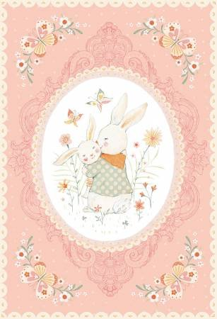 Bunny Tales Pink Bunny Panel 30in Flannel