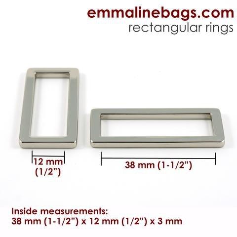 Emmaline Flat Regtangular Ring 1 25mm (4 pack)